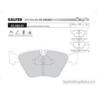 GALFER přední brzdové desky typ FDA 1045 JAGUAR XJS 3.6 -- rok výroby 89-96 ( brzdový systém ATE )
