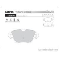GALFER zadní brzdové desky typ FDA 1045 JAGUAR X-Type 2.5i V6 24V -- rok výroby 01- ( brzdový systém BCH )