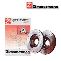 Zimmermann zadní sportovní brzdové kotouče -vzduchem chlazené JAGUAR S-TYPE (CCX)  -motor 3.0 V6 -- rok výroby 01.99-